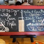 Daily soup and juice specials