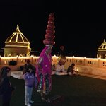 Roof top resturants nd Rajasthani dance