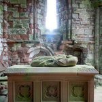 Effigy of Lady Devorgila at Sweetheart Abbey