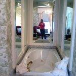 Nice spa tub.