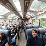 The party train from Machu Picchu to Cusco