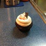 Chocolate Raspberry Surprise cupcake