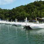Frota de lanchas AquaFun na Marina Meliá