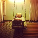 The vintage swing in the room