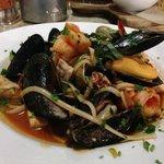 Fresh frutti di mare seafood pasta