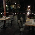Outside dining patio area.