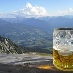 View from the terasse of Gutenberghouse - beer is optional