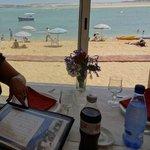 vue sur la plage, de notre table