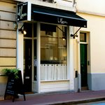 Facade restaurant Le Marjolin. Levallois-Perret