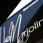 Enseigne restaurant Le Marjolin. Levallois-Perret