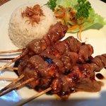 Delicious tasting Satay