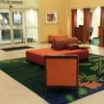 Lobby with new tile