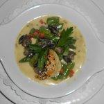 Cassolette d'escargots et asperges vertes