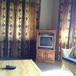 the only tv in a self catering 3 bedroom chalet