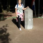 Standing in three countries simultaneously!