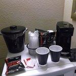 Cafeteira e microondas