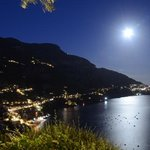 View of Positano by night from Villa Hibiscus