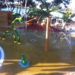 childrens sprinkler play area