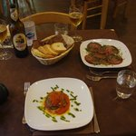 Appertisers at Osteria del Gusto