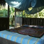 Rustic palm thatch personal cabana