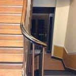 elevator stops between floors