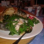Uncle caught the seabass on the day, the chef created this - delish!