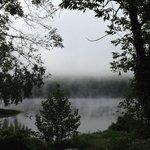 Early morning mist on the Delaware River, Shawnee on Delaware.