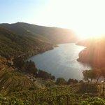 Por do sol no Rio Douro com vista da Quinta do Pego.
