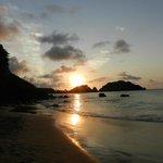 Por do sol na Praia do Cachorro