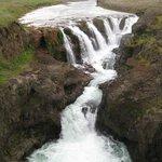 Iceland travel Koluglufurfoss
