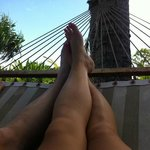 Hammock in front of our cottage