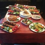 Our tasty food table!