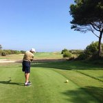 golf course is beautiful. located next to the sea.