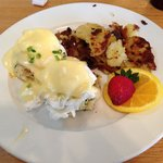 Crab Cakes and Eggs Benedict $12.95