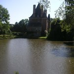 Le château côté pièce d'eau