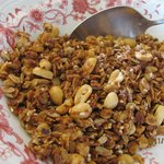 Home made healthy foods like this granola cereal