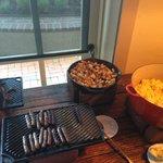 Breakfast buffet (it was free for us!)