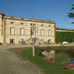 Domaine de Maran, main chateau.  The gite is behind the ivy at the far right.