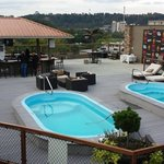 Two rooftop pools and the outside bar