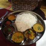 rice, lamb and Nepalese spicy sauce