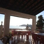 Pyrgiana beach hotel view from the restsurant