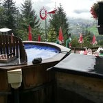 Hot tub - from Bachelor Season 16, episode 9 - look it up!  Anita has bus card from the Field Mg