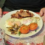 The Hot Breakast at a small additional cost