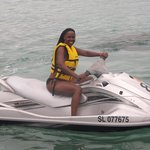 jet sking on Gros Islet Beach
