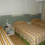 O apartamento bem arrumado e tranquilo para dormir
