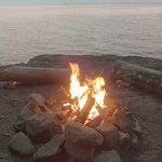 lake shore campfire