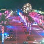 Wharf patriotic laser show from condo balcony