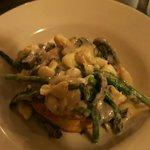 Mushroom Vol au Vent with Lump Crab Meat & Aspargagus