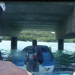 Getting towed under the dock