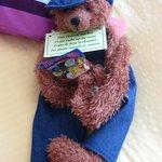 Bear with gummy bear candy